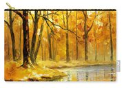 Stream In The Forest - Palette Knife Oil Painting On Canvas By Leonid Afremov Carry-all Pouch