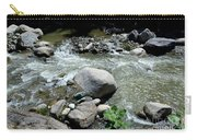 Stream Water Foams And Rushes Past Boulders Carry-all Pouch