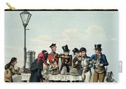 Street Breakfast Engraved By G.hunt Carry-all Pouch