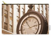 Street Clock In Manhattan Carry-all Pouch