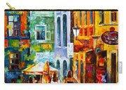 Street In Amsterdam Carry-all Pouch by Leonid Afremov