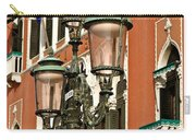 Street Lamps Of Venice Carry-all Pouch