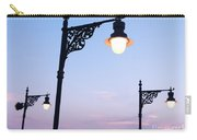 Street Lamps Over Sunset Sky Background Carry-all Pouch