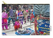 Street Market View From A Rickshaw In Kathmandu Durbar Square-nepal Carry-all Pouch