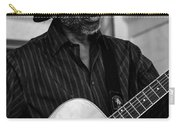 Street Musician Black And White Carry-all Pouch