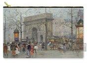 Street Scene In Paris Carry-all Pouch by Eugene Galien-Laloue