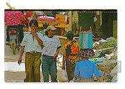 Street Scene In Tachilek-burma Carry-all Pouch