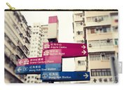 Street Signs In Hong Kong Carry-all Pouch