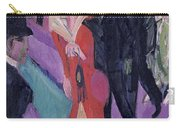 Street With Red Streetwalker Carry-all Pouch