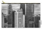 Streeterville From Above Black And White Carry-all Pouch