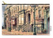 Streets Of Old New York City Watercolor Carry-all Pouch