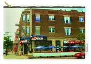 Streets Of Pointe St Charles Centre And Charlevoix Summer La Chic Regal Pub Scenes Carole Spandau Carry-all Pouch
