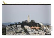 Streets Of San Francisco With Coit Tower Carry-all Pouch