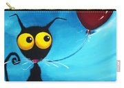 Stressie Cat And Her Love Balloon Carry-all Pouch