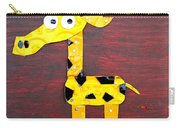 Stretch The Giraffe License Plate Art Carry-all Pouch