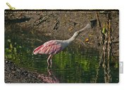 Stretched Out Pink Spoonbill Carry-all Pouch
