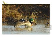 Stretching Mallard Drake Carry-all Pouch