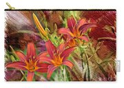 Striking Daylilies - Digital Art Carry-all Pouch