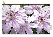 Striped Clematis Carry-all Pouch