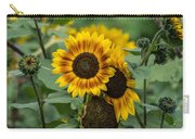 Striped Sunflower Carry-all Pouch