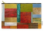 Strips And Pieces Lll Carry-all Pouch by Michelle Calkins