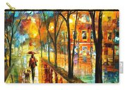 Stroll With My Best Friend - Palette Knife Oil Painting On Canvas By Leonid Afremov Carry-all Pouch
