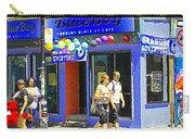 Strolling By The Blue Boy Frozen Yogurt Glacee Cafe Plateau Mont Royal City Scene Carole Spandau   Carry-all Pouch