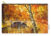 Strong Birch - Palette Knife Oil Painting On Canvas By Leonid Afremov Carry-all Pouch