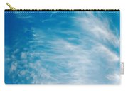 Strong Winds Forming Cirrus Clouds With A Deep Blue Sky. Carry-all Pouch