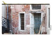 Stucco And Brick Canalside Building Venice Italy Carry-all Pouch