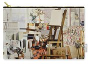 Studio, 1986 Oil On Canvas Carry-all Pouch