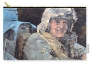 Study For Donald Campbell Oil On Canvas Carry-all Pouch