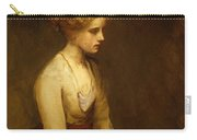 Study Of A Fair Haired Beauty  Carry-all Pouch by Jean Jacques Henner