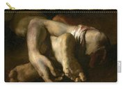 Study Of Feet And Hands, C.1818-19 Oil On Canvas Carry-all Pouch