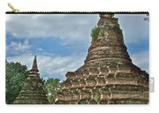 Stupas Of Wat Mahathat In 13th Century Sukhothai Historical Park-thailand Carry-all Pouch