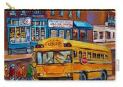 St.viateur Bagel And School Bus Montreal Urban City Scene Carry-all Pouch