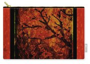 Stylized Cherry Tree With Old Textures And Border Carry-all Pouch