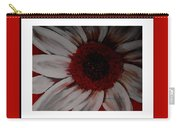 Stylized Daisy With Red Border Carry-all Pouch