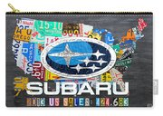 Subaru License Plate Map Sales Celebration Limited Edition 2013 Art Carry-all Pouch