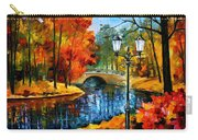 Sublime Park - Palette Knife Oil Painting On Canvas By Leonid Afremov Carry-all Pouch