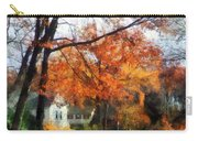 Suburban Street In Autumn Carry-all Pouch