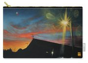 Suburban Sunset Oil On Canvas Carry-all Pouch