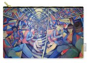 Subway Nyc, 1994 Oil On Canvas Carry-all Pouch