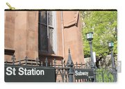 Subway Station In Brooklyn Carry-all Pouch