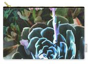 Succulent Flower Caught In A Moonbeam Carry-all Pouch