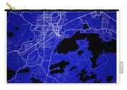 Sudbury Street Map - Sudbury Canada Road Map Art On Colored Back Carry-all Pouch
