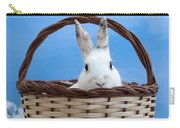 sugar the easter bunny 4 - A curious and cute white rabbit in a hand basket  Carry-all Pouch