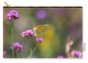 Sulphur Butterfly On Verbena Flower Carry-all Pouch
