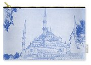 Sultan Ahmed Mosque Istanbul Blueprint Carry-all Pouch