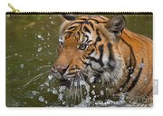 Sumatran Tiger Splashing In The Water Carry-all Pouch
